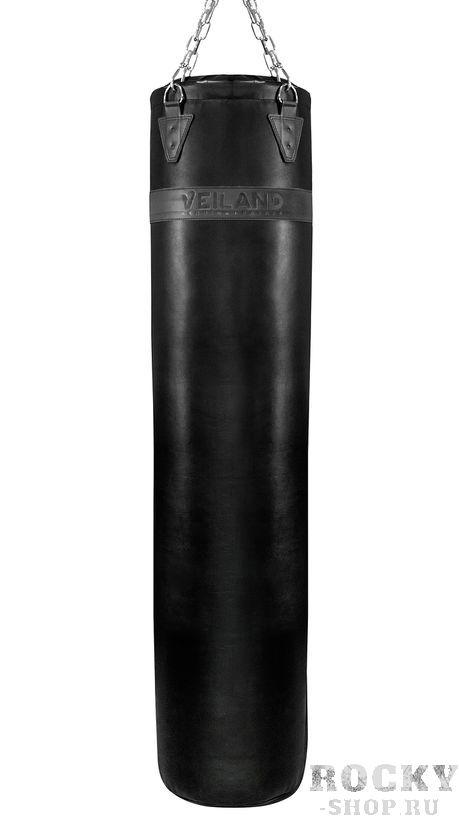 Профессиональный боксерский мешок Veiland Thai Style Black Edition, кожа, 180х40см, 80кг Veiland