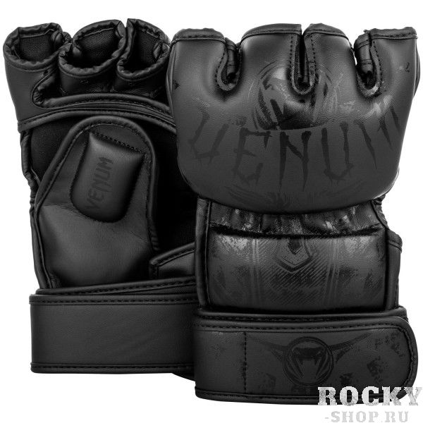 Купить Перчатки ММА Venum Gladiator Black/Black (арт. 26805)