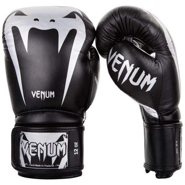 Перчатки боксерские Venum Giant 3.0 Black/Silver Nappa Leather 10 унций (арт. 26826)  - купить со скидкой