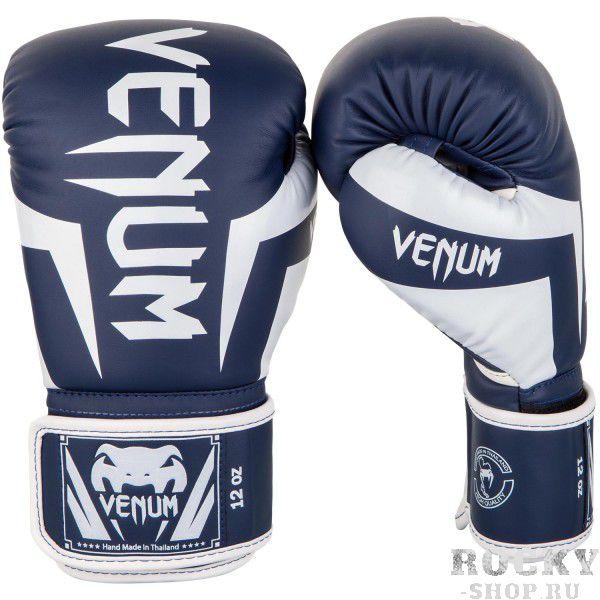 Купить Перчатки боксерские Venum Elite Navy Blue/White 12 унций (арт. 26873)