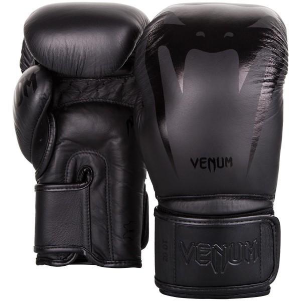 Купить Перчатки боксерские Venum Giant 3.0 Black/Black Nappa Leather 12 унций (арт. 26877)