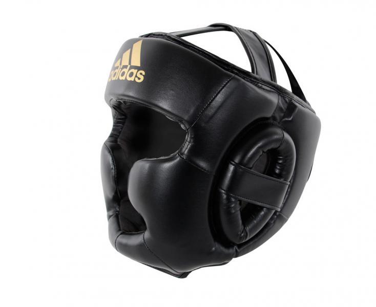 Шлем боксерский Speed Super Pro Training Extra Protect черно-золотой Adidas