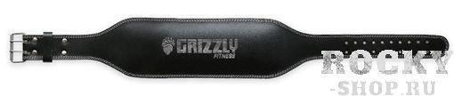 Пояс атлетический, 6 Grizzly чёрный (арт. 27)  - купить со скидкой