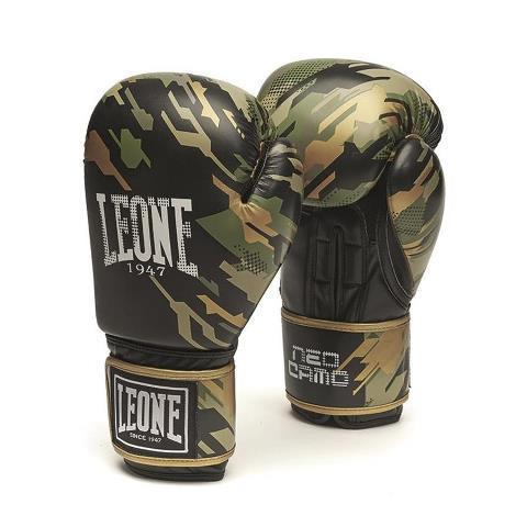 Боксерские перчатки Leone 1947 IL NEOCAMO GN305 Green, 10 унций Leone
