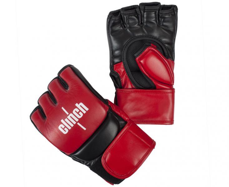 Перчатки для смешанных единоборств Clinch Combat красно-черные Gear (арт. 27123)  - купить со скидкой