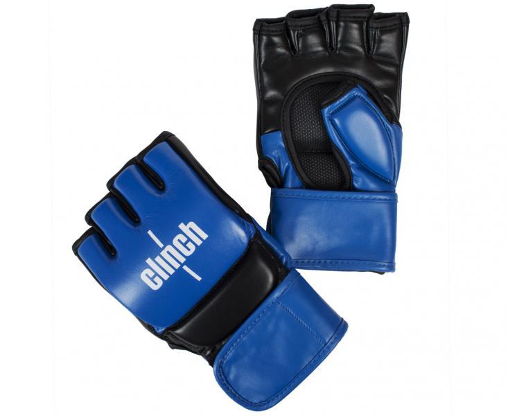 Перчатки для смешанных единоборств Clinch Combat сине-черные, сине-черные Clinch Gear
