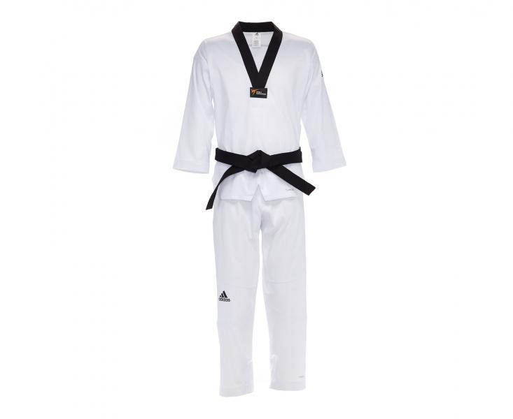 Добок для тхэквондо Adizero Pro WT белый с черным воротником Adidas фото