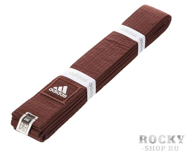Купить Пояс для единоборств Elite коричневый Adidas (арт. 27132)
