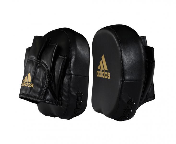 Лапы Short Focus Mitts черно-золотые Adidas