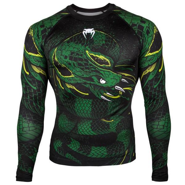 Рашгард Venum Green Viper Black/Green L/S (арт. 27268)  - купить со скидкой