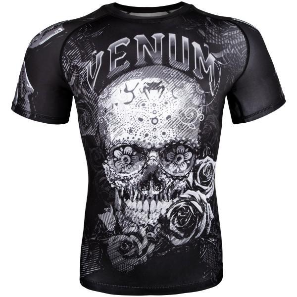 Купить Рашгард Venum Santa Muerte 3.0 Black/White S/S (арт. 27271)