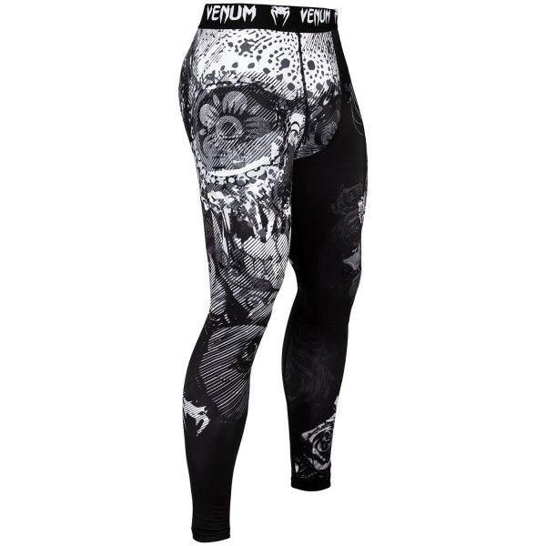 Купить Компрессионные штаны Venum Santa Muerte 3.0 Black/White (арт. 27278)