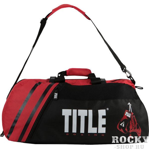 Спортивная сумка-рюкзак TITLE World Champion 2.0 Black/Red (арт. 27374)  - купить со скидкой