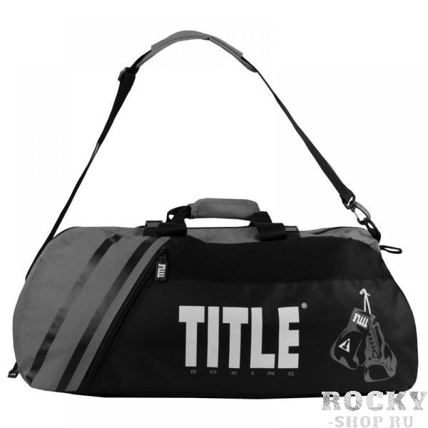 Спортивная сумка-рюкзак TITLE World Champion 2.0 Black/Grey (арт. 27375)  - купить со скидкой