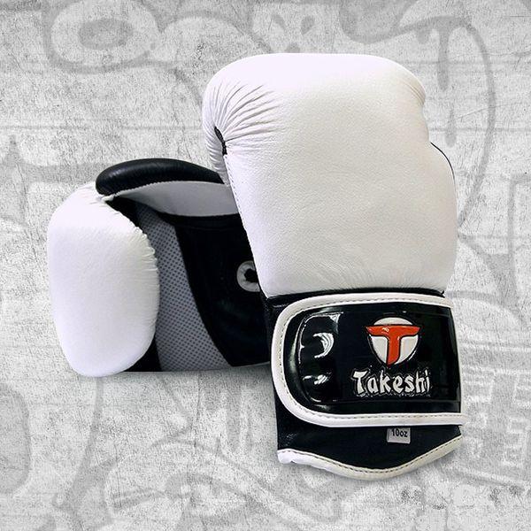 Боксерские перчатки Takeshi Gear White, 10 OZ Takeshi FG