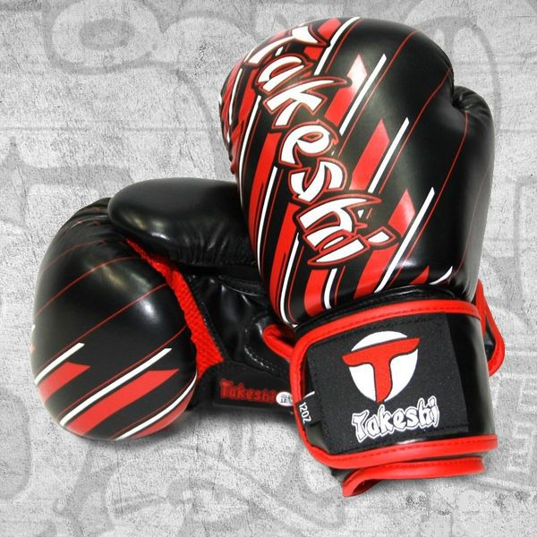 Купить Детские боксерские перчатки Takeshi TFG-11-10 Black/Red FG 6 oz (арт. 27417)