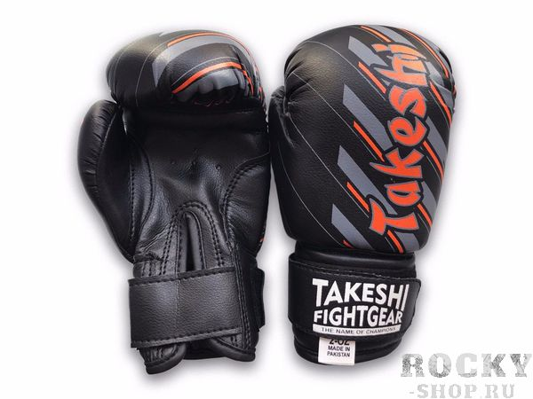 Купить Детские боксерские перчатки Takeshi TFG-11-10 Black/Grey FG 6 oz (арт. 27423)