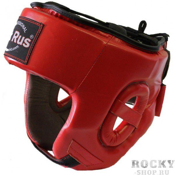 Купить Детский боксерский шлем Pak Rus Red, кожа (арт. 27429)