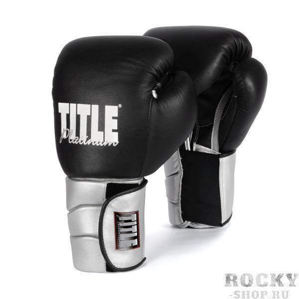 Купить Боксерские перчатки тренировочные TITLE 14 унций чёрные (арт. 2747)
