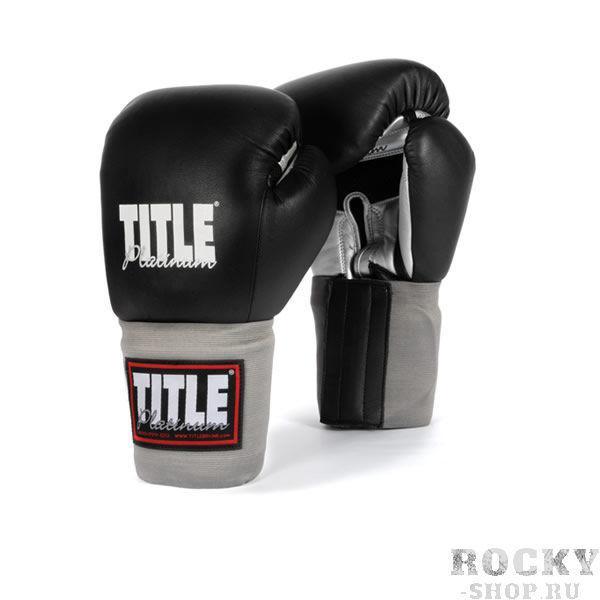 Купить Боксерские перчатки тренировочные TITLE 16 унций чёрные (арт. 2753)