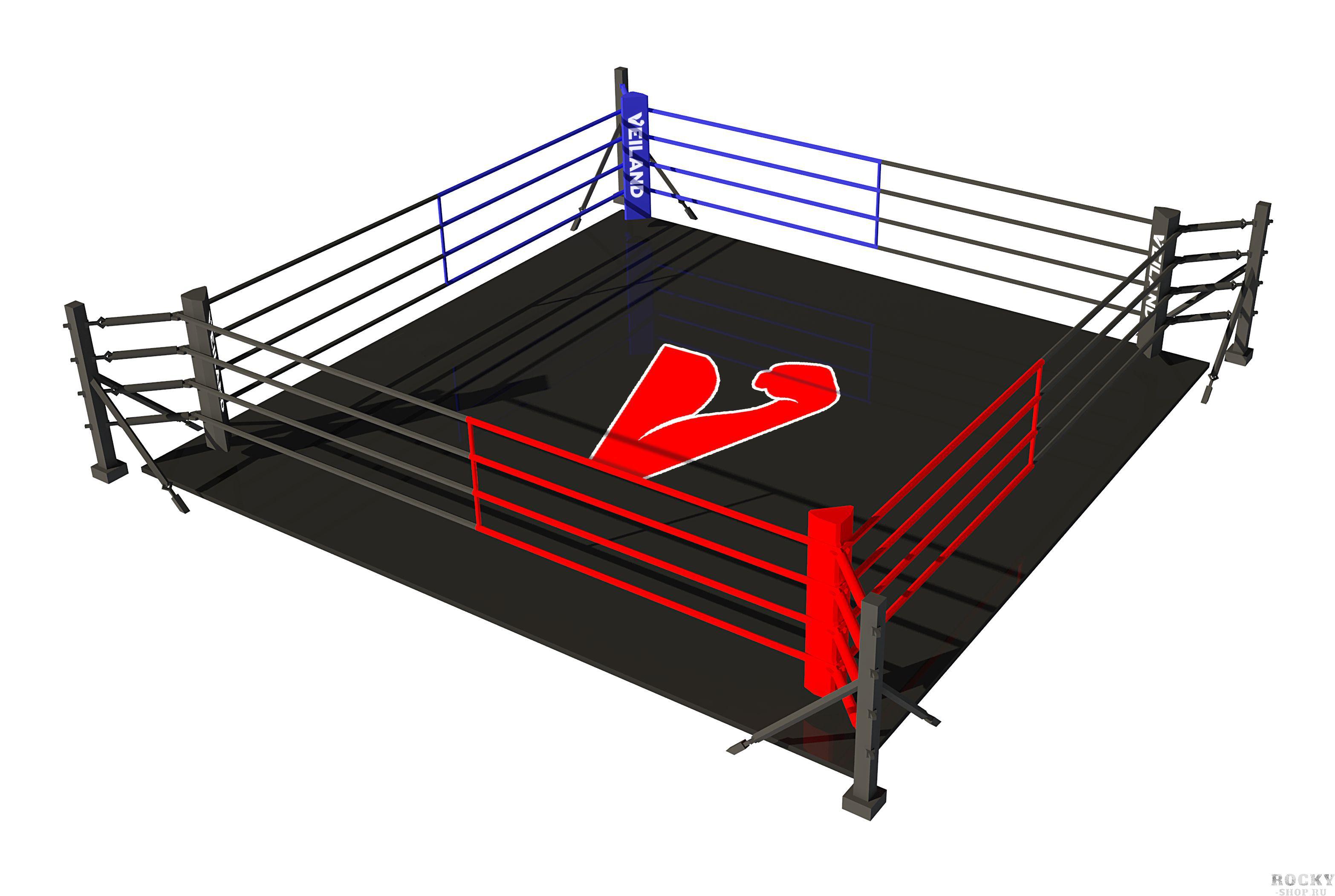 Боксерский ринг Veiland на упорах (4х4 м) (арт. 27539)  - купить со скидкой