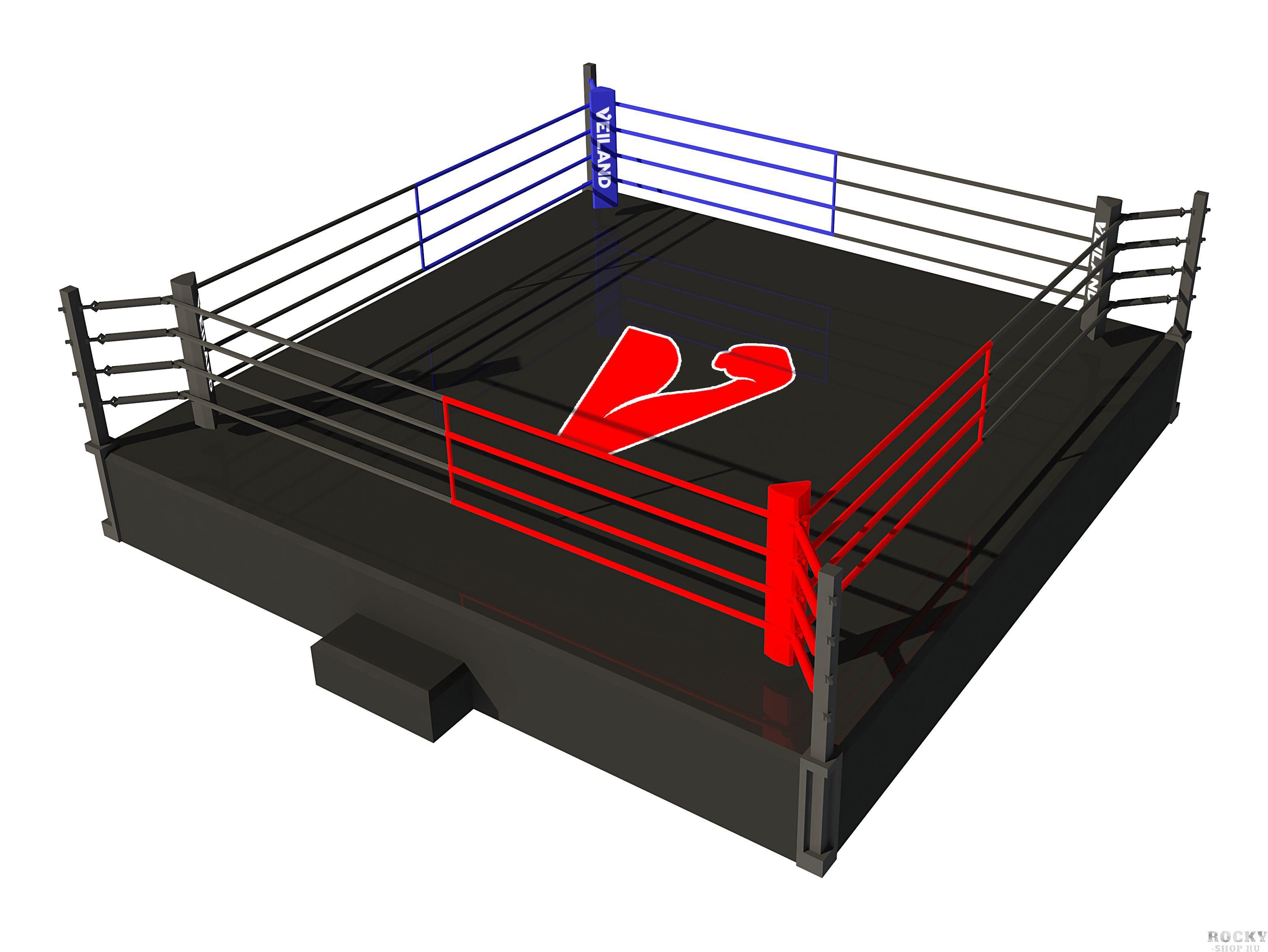Боксерский ринг Veiland на помосте 1 метр, боевая зона 6х6 м (арт. 27547)  - купить со скидкой