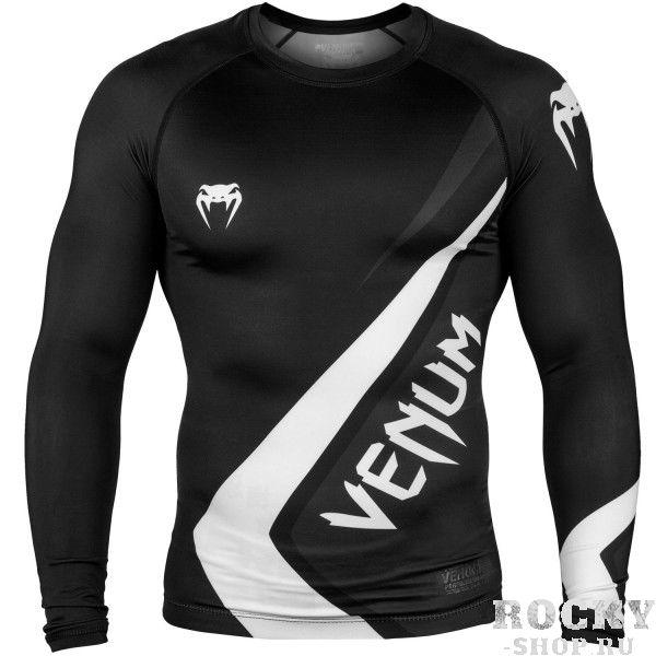 Рашгард Venum Contender 4.0 L/S Black/Grey-White (арт. 27602)  - купить со скидкой