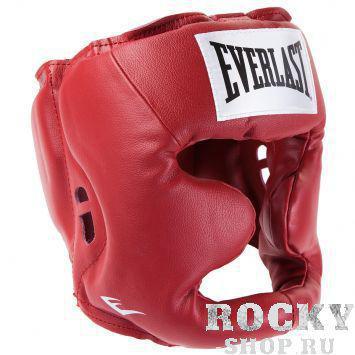 Купить Боксерский шлем, тренировочный Full Protection Everlast размер l красный 3504 (арт. 2763)