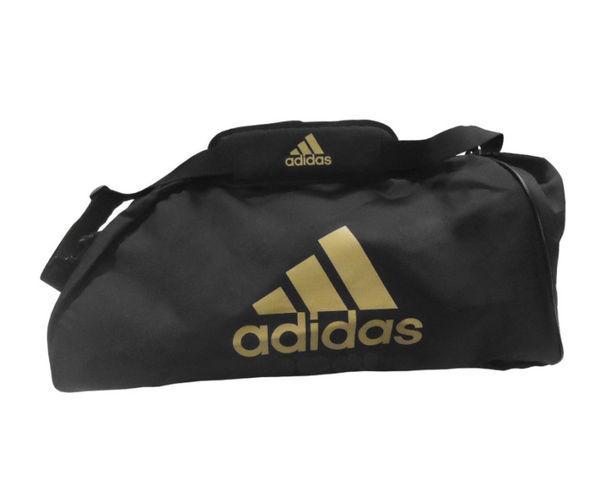 Купить Сумка спортивная Sports Bag Shoulder Strap Combat M черно-золотая Adidas (арт. 27721)