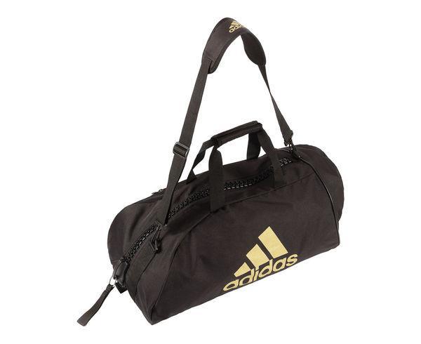 Купить Сумка-рюкзак Training 2 in 1 Bag Combat Sport M черно-золотая Adidas (арт. 27726)