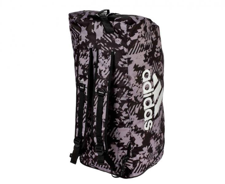Купить Сумка-рюкзак Training 2 in 1 Camo Bag Combat Sport L черно-камуфляжная Adidas (арт. 27728)