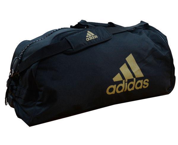 Сумка спортивная с колесами Trolley Bag Combat Sports черно-золотая Adidas