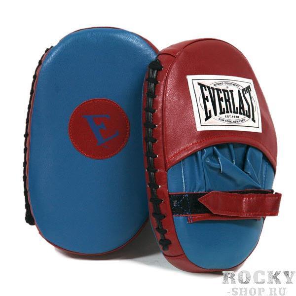 Купить Боксерские лапы - классические Everlast синий/красный (арт. 2777)