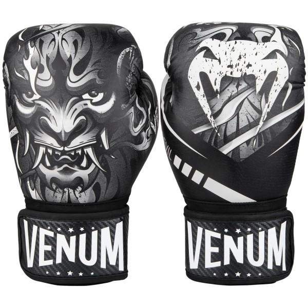 Перчатки боксерские Venum Devil White/Black 12 унций (арт. 27941)  - купить со скидкой