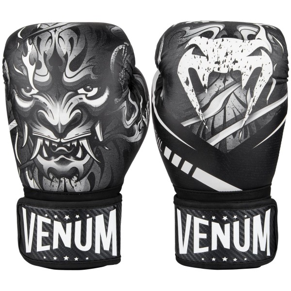 Купить Перчатки боксерские Venum Devil White/Black 12 унций (арт. 27941)