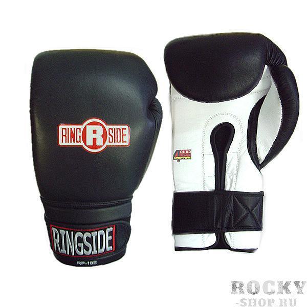 Перчатки боксерские тренировочные, 12 унций RINGSIDEБоксерские перчатки<br>Пенный наполнитель<br> Пришитый большой палец<br> Крепление липучка<br> Материал - 100% кожа<br><br>Цвет: Чёрный/белый
