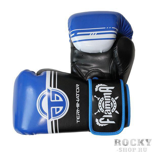 Боксерские перчатки Flamma Terminator 2.0 Blue, 12 OZ Flamma фото