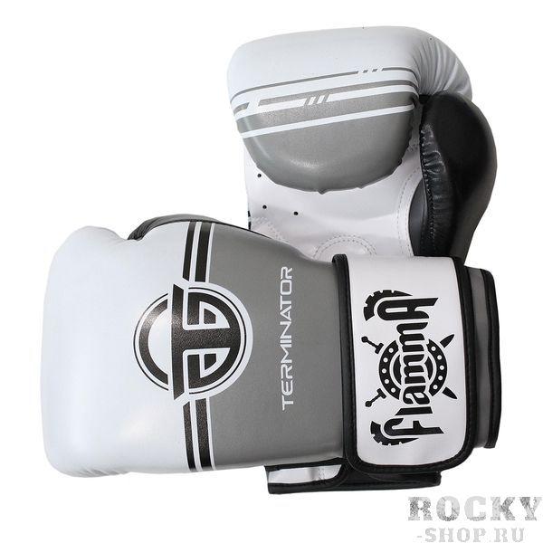 Боксерские перчатки Flamma Terminator 2.0 Grey, 14 OZ Flamma