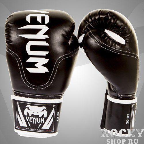 Купить Перчатки боксерские Venum Competitor Boxing Gloves Black Skintex Leather (Black Line) 10oz (арт. 2854)