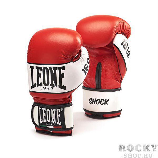 Боксерские перчатки Leone 1947 SHOCK GN047 красные, 16 унций Leone