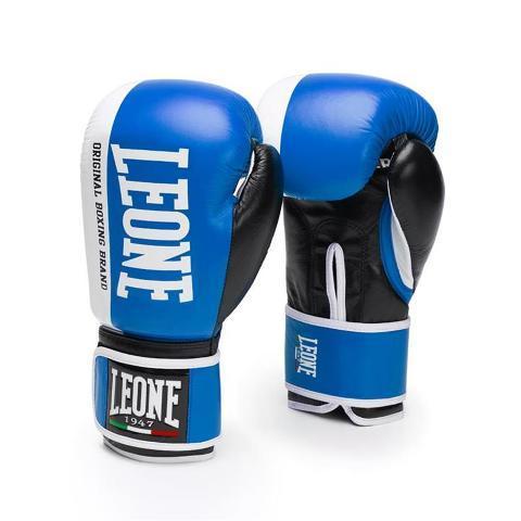 Боксерские перчатки LEONE 1947 CHALLENGER GN201 Синие, 16 унций Leone