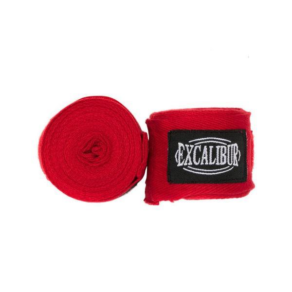 Бинты боксерские Excalibur Красные 3,5 м Excalibur
