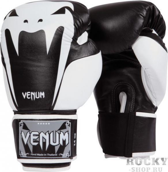 Купить Перчатки боксерские Venum Giant 2.0 Boxing Gloves - Black Nappa Leather 10 унций (арт. 2870)