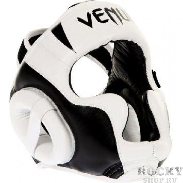 "Шлем боксерский Venum ""Absolute"" Headgear 100% Premium Leather - White Venum"