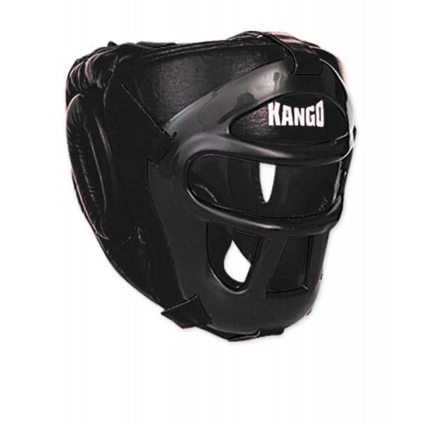Шлем боксерский Kango KHG-002 Black/Black PU KANGO