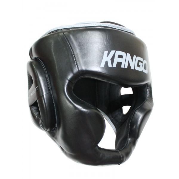 Шлем боксерский Kango KHG-070 Black/Golden PU KANGO
