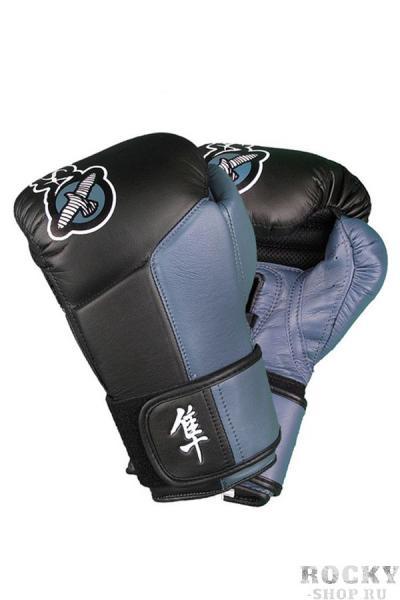 Купить Перчатки для Бокса Hayabusa Tokushu 14oz Gloves Black/Steel Blue (арт. 2886)