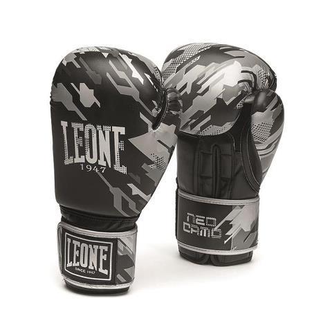 Боксерские перчатки Leone 1947  NEOCAMO GN305 Gray, 10 унций Leone