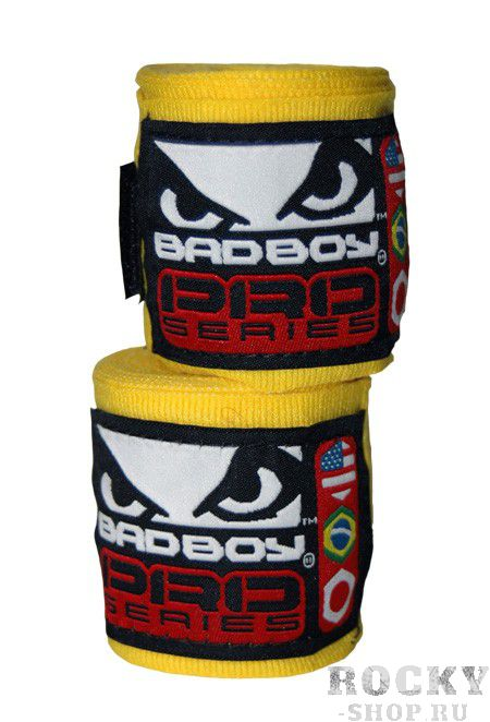 Бинты Bad Boy Pro Series Wraps Yellow