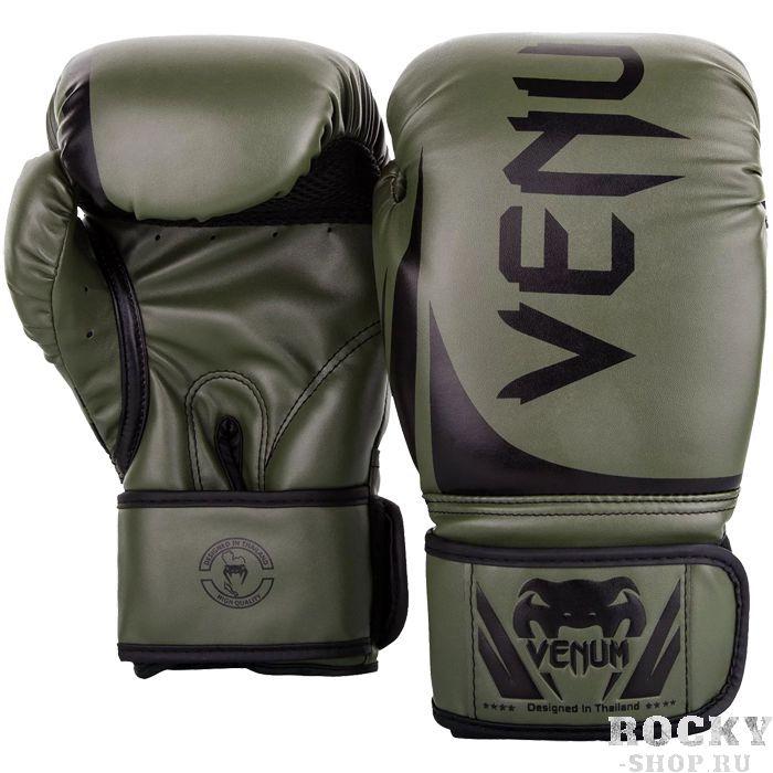 Боксерские перчатки Venum Challenger 2.0 Khaki/Black, 8 oz Venum